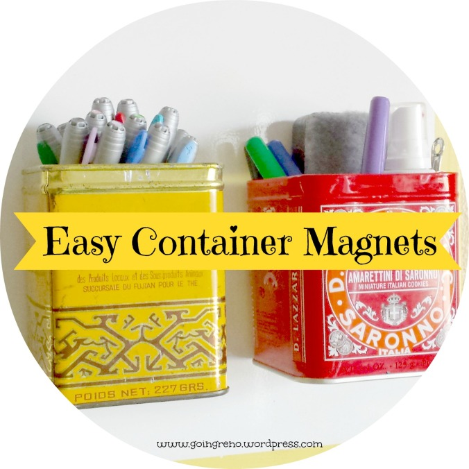 Old tea tins and some super strong magnets are all you need to make these adorable container magnets.