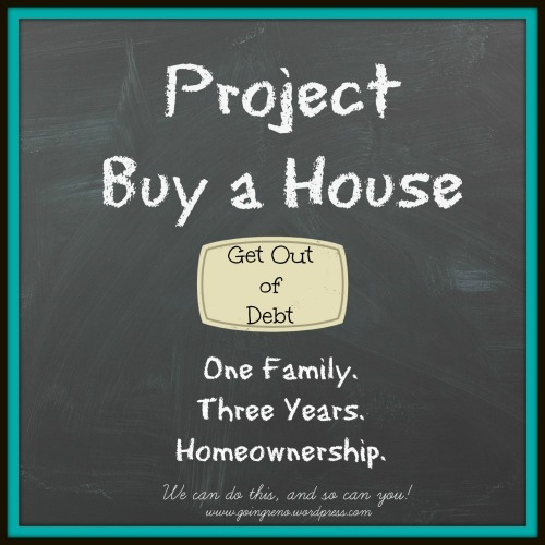 Project Buy a House: Get Out of Debt. Step one in the plan to buy a house in three years is to get rid of consumer debt.