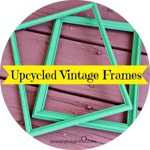 A little acrylic paint in a bright color brings old frames back to life.