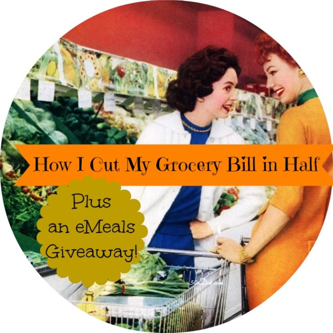 How I cut my (outrageous) grocery bill in half--plus an eMeals giveaway.
